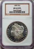 Morgan Dollars: , 1883 $1 MS63 Deep Mirror Prooflike NGC. NGC Census: (108/182). PCGS Population: (258/395). CDN: $275 Whsle. Bid for problem...