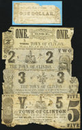 Obsoletes By State:Louisiana, Clinton, LA- Town of Clinton $1(2); $2; $3; $5 1862. ... (Total: 5 notes)