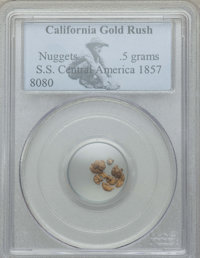 1857 MS .5 grams Nuggets From S.S. Central American PCGS