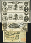 Obsoletes By State:Louisiana, A Selection of Bank Notes from Louisiana ca. 1840s-1875. ... (Total: 7 notes)