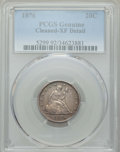 Twenty Cent Pieces, 1876 20C -- Cleaning -- PCGS Genuine. XF Details. NGC Census:(15/418). PCGS Population: (52/581). CDN: $450 Whsle. Bid for...