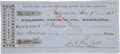 Autographs:Military Figures, John C. Hays California Bank Draft Signed by Proxy....