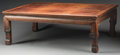 Asian:Chinese, A Chinese Hardwood Kang Table, Qing Dynasty, 19th century. 12-5/8 hx 36-3/4 w x 24-1/2 d inches (32.1 x 93.3 x 62.2 cm). ...