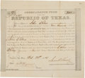Miscellaneous, [Republic of Texas]. Consolidated Fund of the Late Republic ofTexas Bond Certificate....