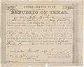 Miscellaneous, Consolidated Fund of the Late Republic of Texas BondCertificate....