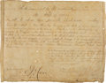 Autographs:Military Figures, Sam Houston Military Appointment Signed....