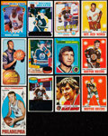 Hockey Cards:Lots, 1970-81 Topps Hockey Collection (50) Plus Three Basketball Cards. . ...