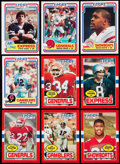 Football Cards:Sets, 1984 and 1985 Topps USFL Complete Sets (2) Plus 1983 Fleer Football Complete Set. . ...