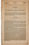 Political:Small Paper (pre-1896), [James K. Polk]. Twenty-Ninth Congress, First Session No. 378. Senate. Message of the President of the United States, Ju...