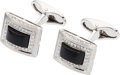 Estate Jewelry:Cufflinks, Diamond, Black Onyx, White Gold Cuff Links, Eli Frei. ...