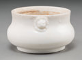 Asian:Chinese, A Chinese Biscuit Porcelain Censer-Form Brush Washer. 2 inches highx 3-1/2 inches diameter (5.1 x 8.9 cm). ...
