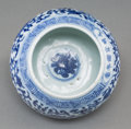 Asian:Chinese, A Chinese Blue and White Globular Brush Washer, Qing Dynasty, 18thcentury. Marks: Six-character Xuande mark in blue undergl...