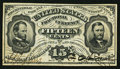 Fractional Currency:Third Issue, Fr. 1274SP 15¢ Glued Pair Third Issue Very Fine.. ...
