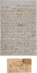 Autographs:Statesmen, [Civil War]. John Stayton Autograph Letter Signed...