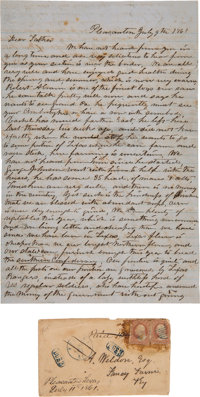 [Civil War]. John Stayton Autograph Letter Signed