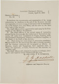 Military & Patriotic:Civil War, [Texas C.S.A.]. Jeremiah Y. Dashiell General Orders No. 13 Signed...