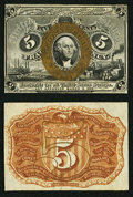 Fractional Currency:Second Issue, Fr. 1232SP 5¢ Second Issue Narrow Margin Pair Choice New.. ... (Total: 2 notes)