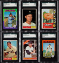 Baseball Cards:Lots, 1961-75 Topps Stars & HoFers SGC Graded Collection (6).. ...