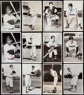 Autographs:Post Cards, 1950s-60s Cleveland Indians Postcard Lot of 27.. ...
