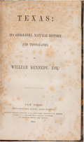 Books:Natural History Books & Prints, William Kennedy. Texas: Its Geography, Natural History, and Topography. ...