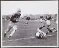 Football Collectibles:Photos, Don Hutson Touchdown Catch Vintage Photograph, PSA/DNA Type II.. ...