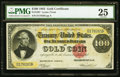Large Size:Gold Certificates, Fr. 1207 $100 1882 Gold Certificate PMG Very Fine 25.. ...