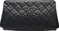 "Luxury Accessories:Bags, Chanel Black Quilted Caviar Jumbo CC Clutch Bag. Condition: 3.12"" Width x 6"" Height x 3"" Depth. ..."