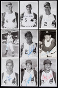 Autographs:Post Cards, 1960s Cleveland Indians Signed Postcard Lot of 9.. ...
