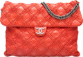 "Luxury Accessories:Bags, Chanel Red Quilted Lambskin Large Flap Bag. Condition: 3. 13.5""Width x 10"" Height x 0.5"" Depth. ..."