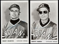 Autographs:Post Cards, Cleveland Indians Greats Signed Postcard Lot of 2, Colavito and Haddix. ...