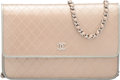 """Luxury Accessories:Bags, Chanel Metallic Gold Embossed Leather Wallet on Chain Bag.Condition: 3. 7.75"""" Width x 5"""" Height x 1.5"""" Depth. ..."""