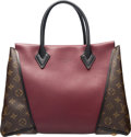 "Luxury Accessories:Bags, Louis Vuitton Monogram Canvas and Burgundy Leather W Tote PM Bag.Condition: 3. 13"" Width x 10"" Height x 5"" Depth. ..."