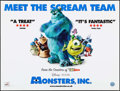 "Movie Posters:Animation, Monsters, Inc. (Buena Vista, 2001). British Quad (30"" X 40"").Animation.. ..."
