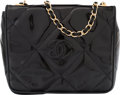 "Luxury Accessories:Bags, Chanel Black Quilted Patent Leather Flap Bag. Condition: 4.7.25"" Width x 6"" Height x 2"" Depth. ..."