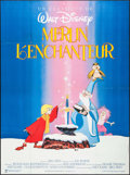 """Movie Posters:Animation, The Sword in the Stone (Warner Brothers, R-1980). French Grande(46"""" X 62""""). Animation.. ..."""