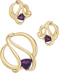 Estate Jewelry:Suites, Amethyst, Gold Jewelry Suite. ... (Total: 2 Items)
