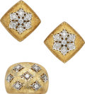 Estate Jewelry:Suites, Diamond, Gold Jewelry Suite. ... (Total: 2 Items)