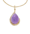 Estate Jewelry:Pendants and Lockets, Amethyst, Diamond, Gold Pendant-Necklace, Eli Frei . ...