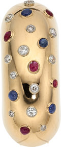 Estate Jewelry:Brooches - Pins, Diamond, Ruby, Sapphire, Gold Brooch, Lackritz. ...