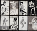 Autographs:Post Cards, Lot of 8 J.D. McCarthy Basketball and Boxing Postcards, 1 Signed.. ...