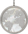 Estate Jewelry:Pendants and Lockets, Diamond, Mother-of-Pearl, White Gold Pendant, Jacob & Co.. ...