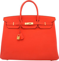 Hermes 40cm Capucine Togo Leather Birkin Bag with Gold Hardware P Square, 2012 Condition: 2</