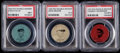 Baseball Cards:Lots, 1933 PX3 Double Header Coins PSA Graded Trio (3) - IncludesGehringer, Wilson, & Fullis. . ...