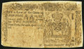 Colonial Notes:New York, New York April 20, 1756 £2 About Good.. ...