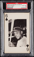 Baseball Cards:Singles (1960-1969), 1962 Pittsburgh Exhibits Willie Mays (6 of Clubs) PSA VG-EX 4. ....