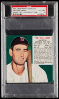 Baseball Cards:Singles (1950-1959), 1952 Red Man Tobacco Ted Williams (Without Tab) PSA VG-EX 4. . ...