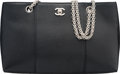 Luxury Accessories:Bags, Chanel Black Caviar Leather Tote Bag Condit...