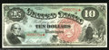 Large Size:Legal Tender Notes, Fr. 96 $10 1869 Legal Tender Gem New. An incredible array of colorsalong with broad, even margins and ideal centering of bo...