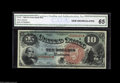 Large Size:Legal Tender Notes, Fr. 96 $10 1869 Legal Tender CGA Gem Uncirculated 65. Beautifulcolors and lovely margins on this 1869 Legal....