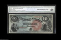 Large Size:Legal Tender Notes, Fr. 96 $10 1869 Legal Tender CGA Gem Uncirculated 65. This RainbowTen has absolutely spectacular color as well as far large...